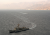 Uss Vandegrift (ffg 48) Steams In The Gulf Of Aqaba Image