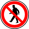 No Walking Pedestrians Clip Art