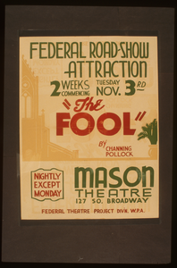 Federal Road-show Attraction  The Fool  By Channing Pollock Image