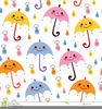 Umbrella And Rain Clipart Image