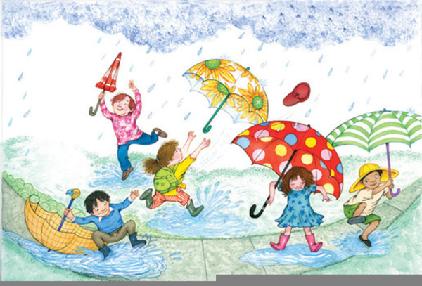 Children Playing In Rain Clipart | Free Images at Clker ...