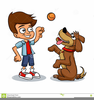 Playing Dog Clipart Image