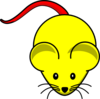 Yellow Mouse Red Tail Clip Art