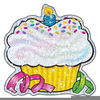 Birthday Cupcakes Clipart Image
