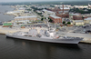 Pre-commissioning Unit Mustin (ddg-89) Is Berthed At The Allegheny Pier On Naval Air Station (nas) Pensacola.  The Guided Missile Destroyer Will Be Heading To San Diego, Where It Will Be Commissioned In July Image