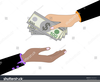 Hand Giving Money Clipart Image