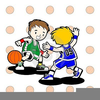 Clipart Of Kids Playing Basketball Image