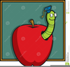 Free Clipart Worm In Apple Image