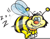 Bee Buzzing Clipart Image