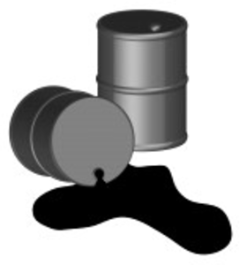 Oil Spilling Out Of One Black Oil Barrel D Vector Image