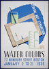 Federal Art Exhibition Wpa Water Colors. Image