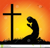 Praying Black Woman Clipart Image