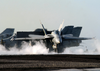 An F/a-18 Hornet From The Gunslingers Of Strike Fighter Squadron One Zero Five (vfa-105) Launches Image