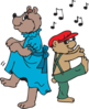 Bears Dancing Clip Art