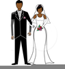 Free African American Wedding Clipart Image