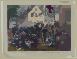 After The Battle Of Gravelotte--sisters Of Mercy Arriving On The Battle Field To Succor The Wounded Clip Art