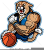 Basketball Player Mascot Free Clipart Image