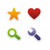 Colorful Stickers Part 2 Icons Set 4x32 Preview Image