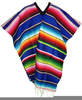 Blue Mexican Poncho Image