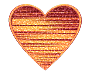 Heart D Textured Orange Image