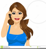 Clipart Woman Talking On The Phone Image