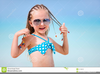 Little Girl In Braids Clipart Image