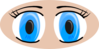 Blue Anime Eyes Clip Art