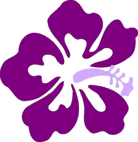 Purple Hibiscus2 Clip Art At Clkercom Vector Clip Art Online