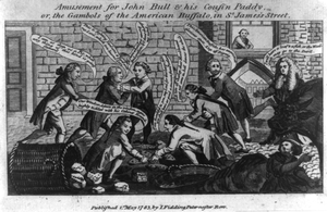 Amusement For John Bull & His Cousin Paddy, Or, The Gambols Of The American Buffalo, In St. James S Street Image