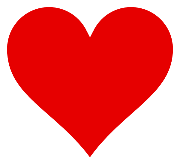 heart with white border clip art at clkercom vector