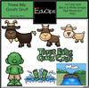 Three Billy Goats Clipart Image