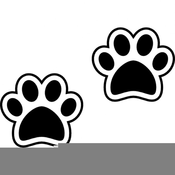 Paw print outline. Free clipart images at