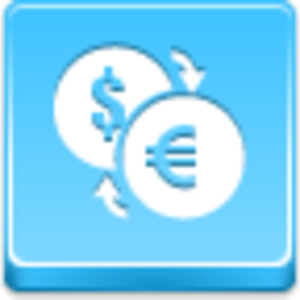 Free Blue Button Icons Conversion Of Currency Image