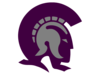 Trojans Purple Gray Cut Image