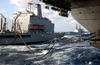 Uss Kitty Hawk (cv 63) Receives Fuel From The Military Sealift Command (msc) Replenishment Oilier Usns Rappahannock (t-ao 204) While The Destroyer Uss Paul F. Foster (dd 964) Approaches From The Rear. Image