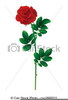 Free Clipart Of Single Red Rose Image