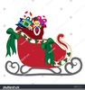 Santa With Bag Of Toys Clipart Image