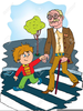 Helping The Elderly Clipart Image