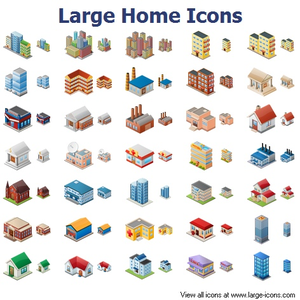 Large Home Icons Image