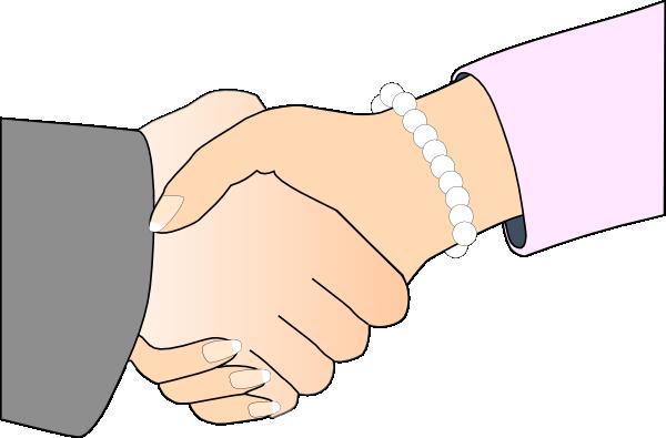 Handshake Freshwater Pearl Bracelet Clip Art At Clker.com