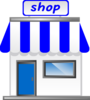 Shop With Awning Clip Art