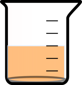 Beaker With Painted Bottom And Liquid Clip Art