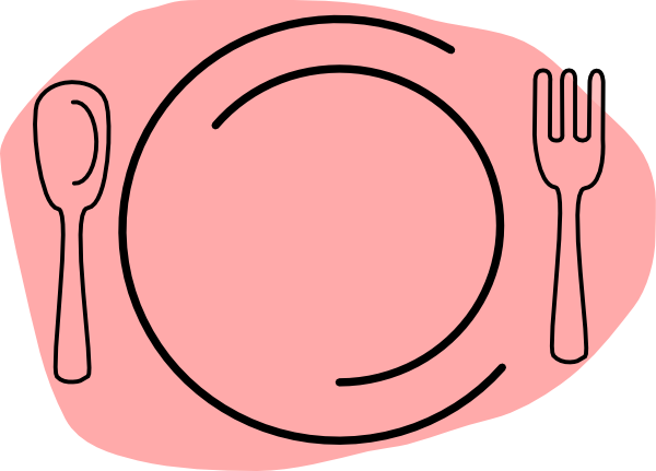 pink plate clip art at clker com vector clip art online royalty rh clker com plate of food clip art free hot plate of food clipart
