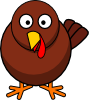Turkey Round Cartoon Clip Art