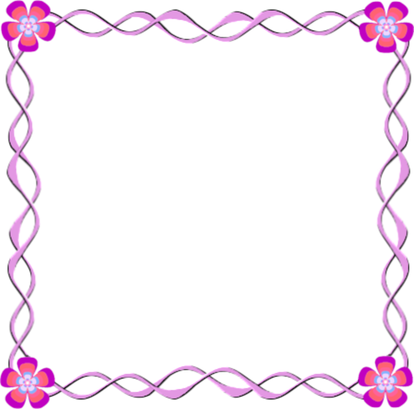Flower Border Design Frame