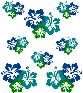 Blue And Green Flowers Image