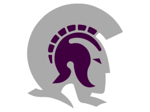 Trojans Gray And Purple Cut Image