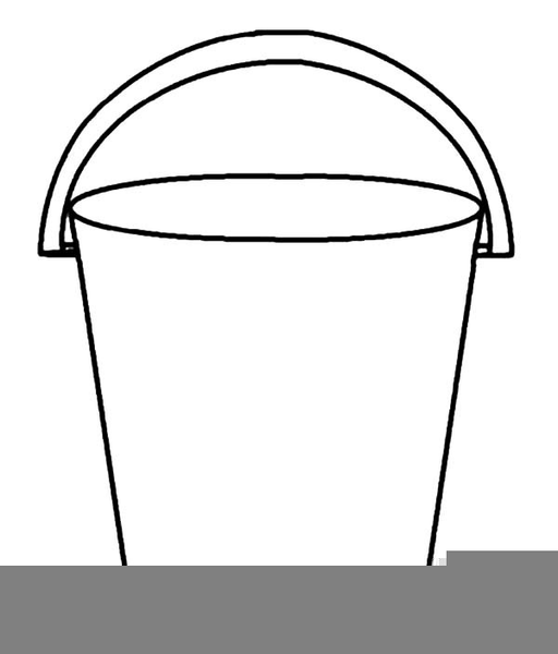 Beach Bucket Outline