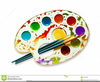 Watercolor Paints Clipart Image