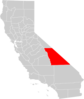 California County Map Inyo County Highlighted Clip Art